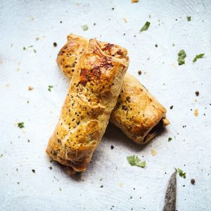 Beef and herb sausage roll