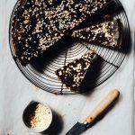 Peanut butter cheesecake biscuit base chocolate ganache