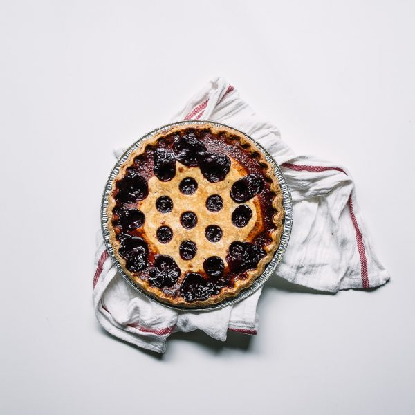 baked sour cherry cinnamon pie