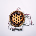 whole baked sour cherry pie